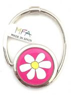 Designer Handbag Hook - S-Tail - Bag Hanger - Pink Daisy